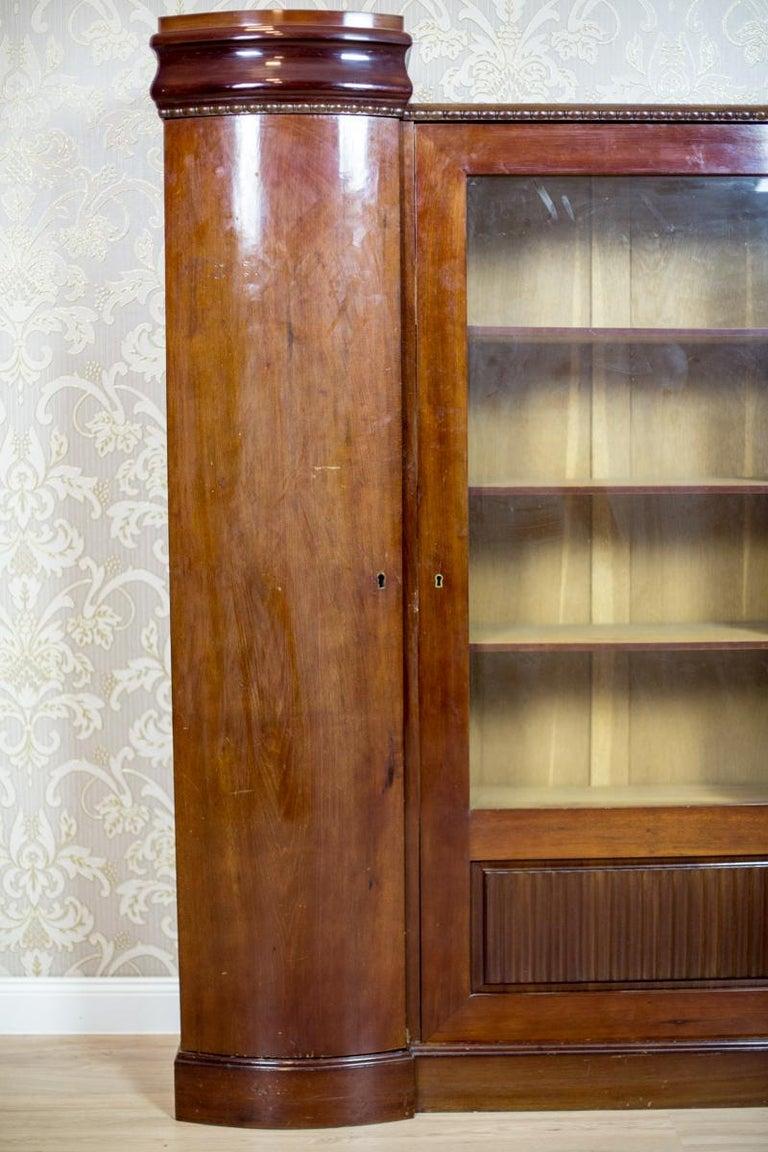 Art Deco Bookcase Veneered with Mahogany, circa 1920-1930 In Good Condition For Sale In Opole, PL