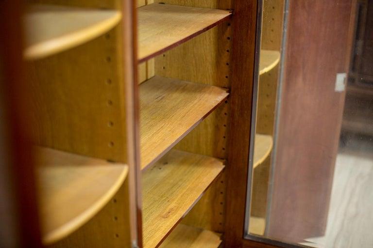 Art Deco Bookcase Veneered with Mahogany, circa 1920-1930 For Sale 1