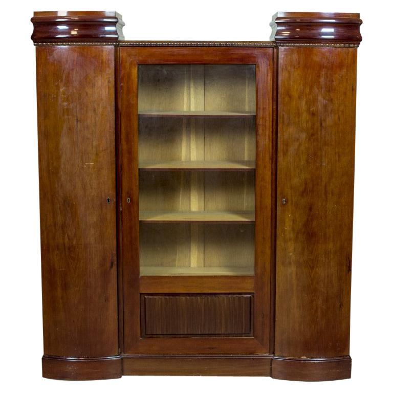 Art Deco Bookcase Veneered with Mahogany, circa 1920-1930 For Sale