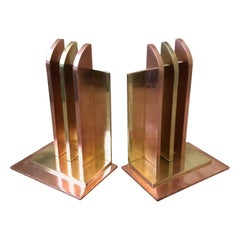 Art Deco Bookends by Walter Von Nessen for Chase Brass, Pair