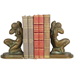 Art Deco Bookends in Bronze, Tinos, Denmark, 1930s