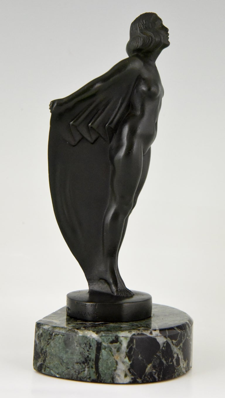 Art Deco Bookends Nude with Drape, Max Le Verrier, France, 1930 For Sale 2