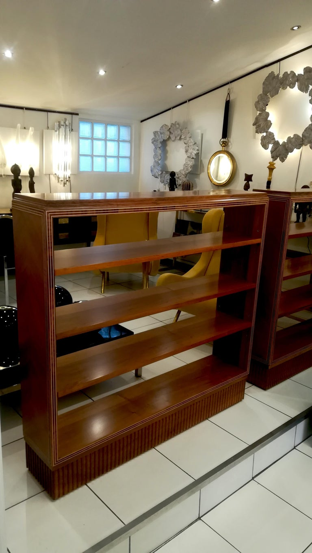Wood Art Deco Bookshelf, circa 1930 For Sale