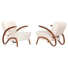 Art Deco Boucle Chair H-275 by Jindrich Halabala for Spojene UP Zavody, 1930s