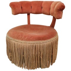 Art Deco Boudoir Slipper Chair as is after Billy Haines