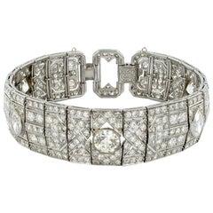 Art Deco Bracelet with Diamonds in Platinum 950