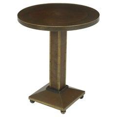 Art Deco Brass and Copper Wine Table c1930