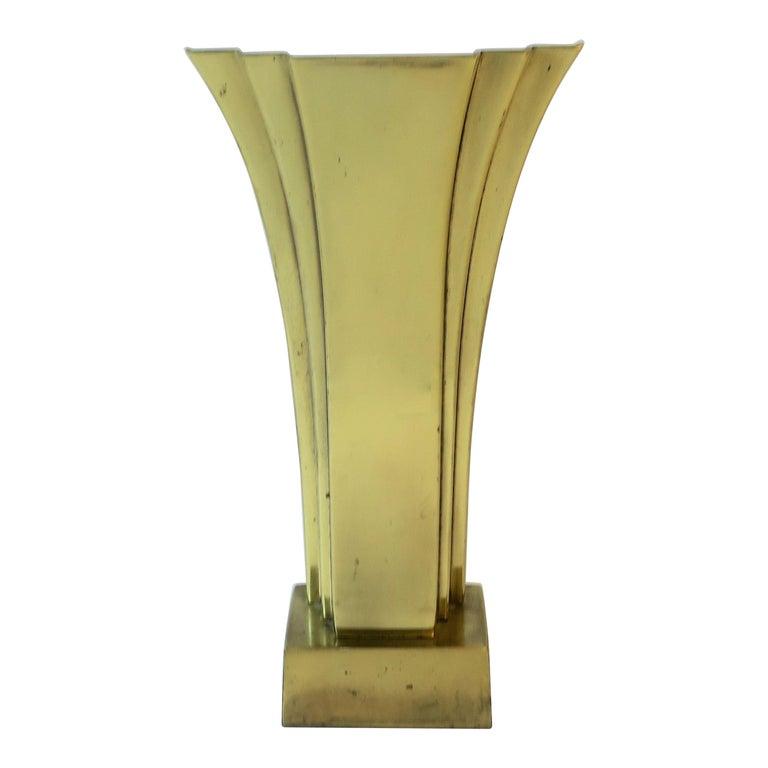 Art Deco Brass Desk or Table Lamp, circa 1970s For Sale