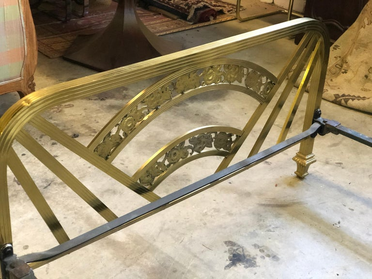 Art Deco Brass Full Size Bed Frame For Sale 7