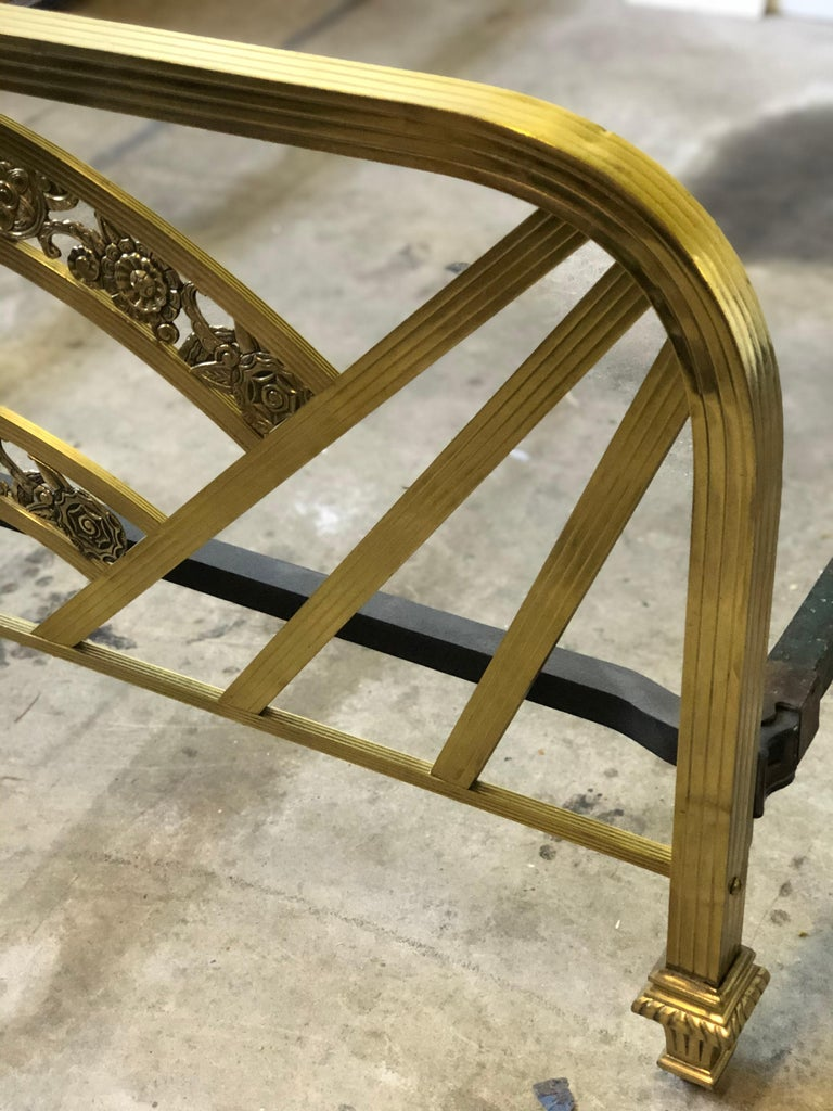 Art Deco Brass Full Size Bed Frame For Sale 8