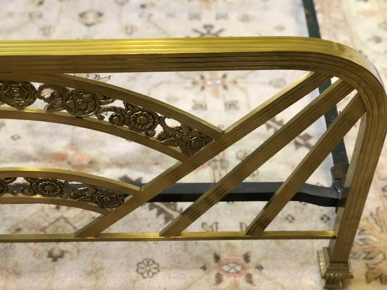 Art Deco Brass Full Size Bed Frame For Sale 11