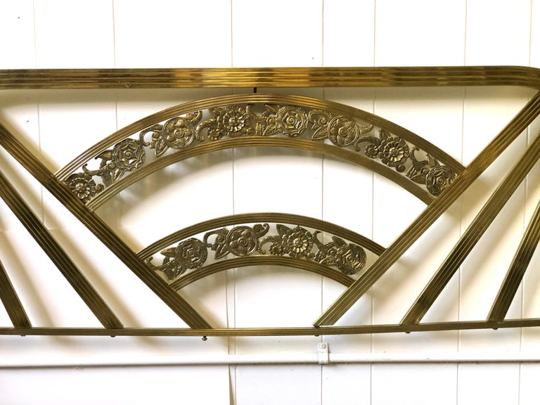 Art Deco Brass Full Size Bed Frame For Sale 3
