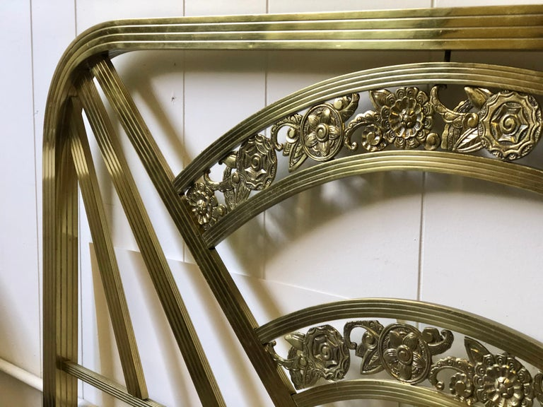 Art Deco Brass Full Size Bed Frame For Sale 5