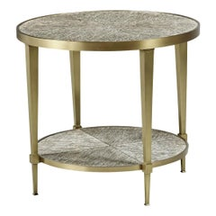 Art Deco Brass Lamp Table