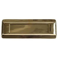Art Deco Brass Letter Box