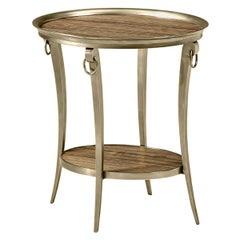Art Deco Brass Oval Side Table