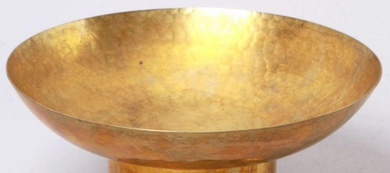 Jugendstil Art Deco Brass Serving Plate, Germany, 1920s For Sale