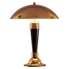 Art Deco Brass Table/ Desk Lamp, Re Edition