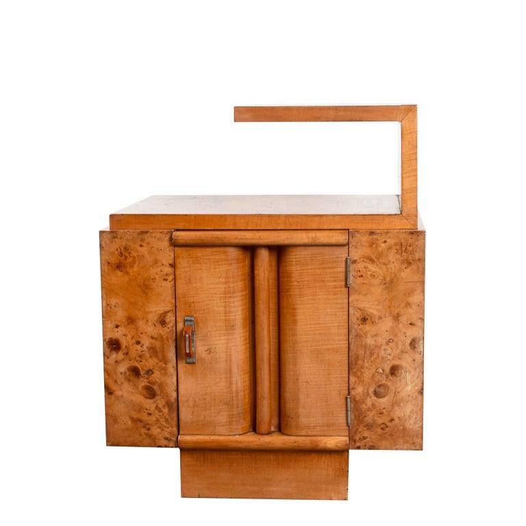 Art Deco Briar Bedside Table Gaetano Borsani Manner Italian Nightstand 1930s