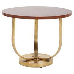 Art Deco Bronze and Mahogany Side Table