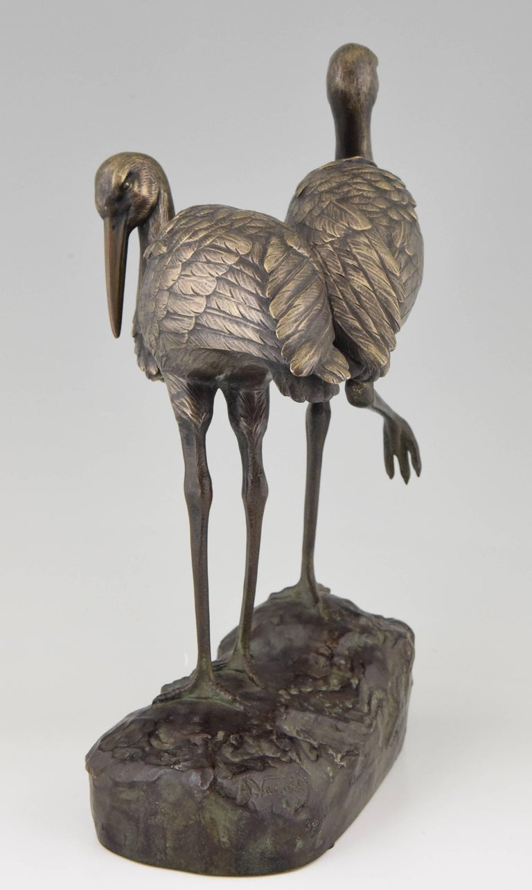Art Deco Bronze Bird Sculpture by A. Vannier, 1930, France In Good Condition For Sale In Antwerp, BE