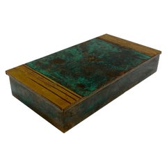 Art Deco Bronze Box with Green Patina by Silver Crest Bronze, circa 1940