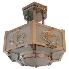 Art Deco Bronze Chandelier