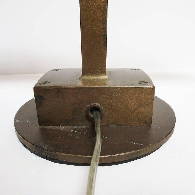 Mid-20th Century Art Deco Bronze Desk Lamp Machine Age For Sale