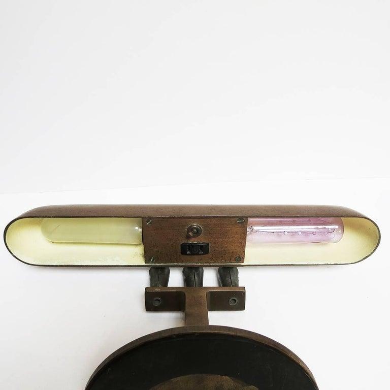 Art Deco Bronze Desk Lamp Machine Age For Sale 2