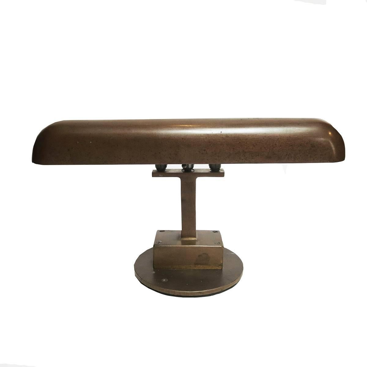 Art Deco Bronze Desk Lamp Machine Age For Sale