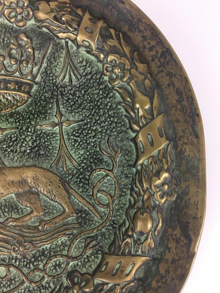 French Max Le Verrier Large Art Deco Bronze Vide Poche or Decorative Dish For Sale