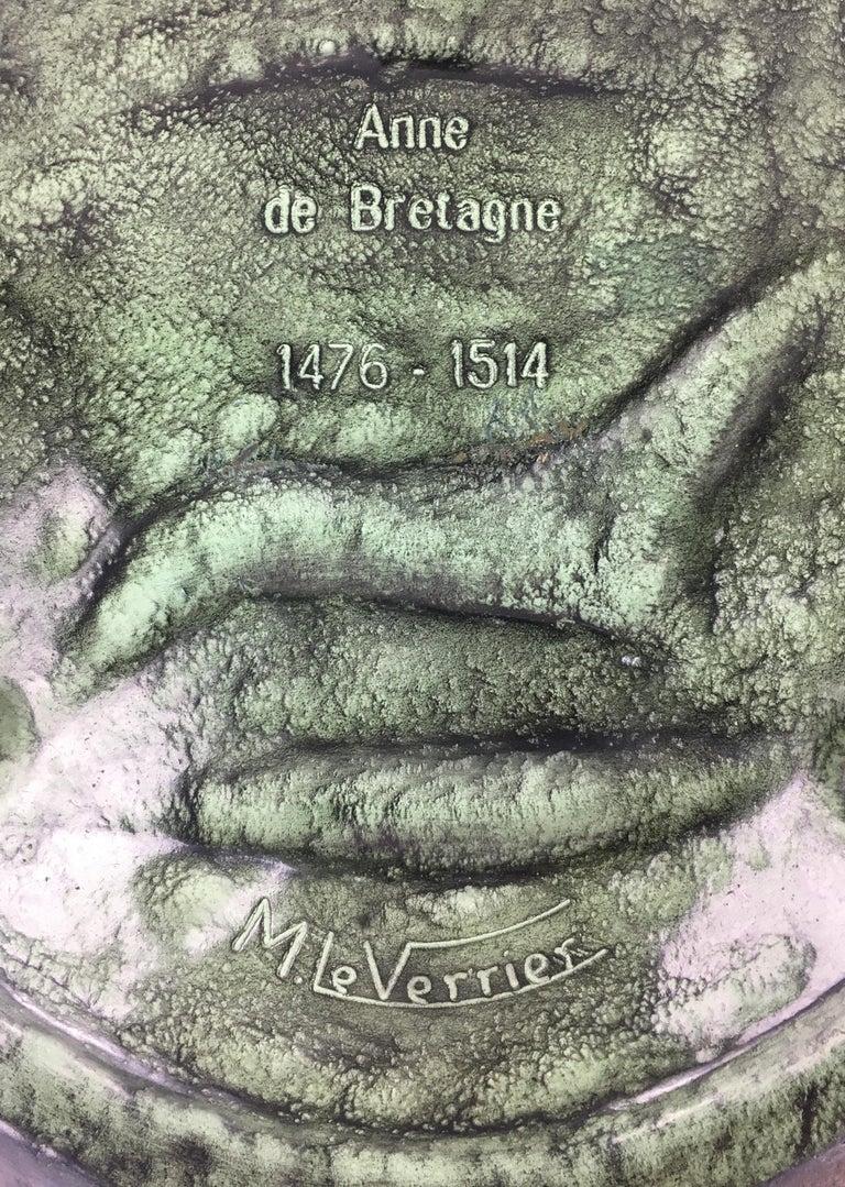 Max Le Verrier Large Art Deco Bronze Vide Poche or Decorative Dish For Sale 1