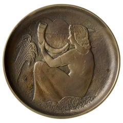 Art Deco Bronze Dish by N. Dam Ravn for Nordisk Malm, 1930s