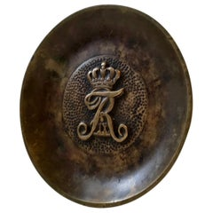 Art Deco Bronze Dish with Royal Danish Cypher, 1940s