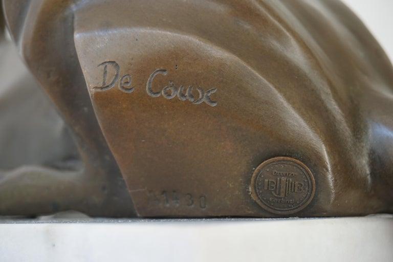 Art Deco Bronze Dog Sculpture by Decoux, 1930, France For Sale 8