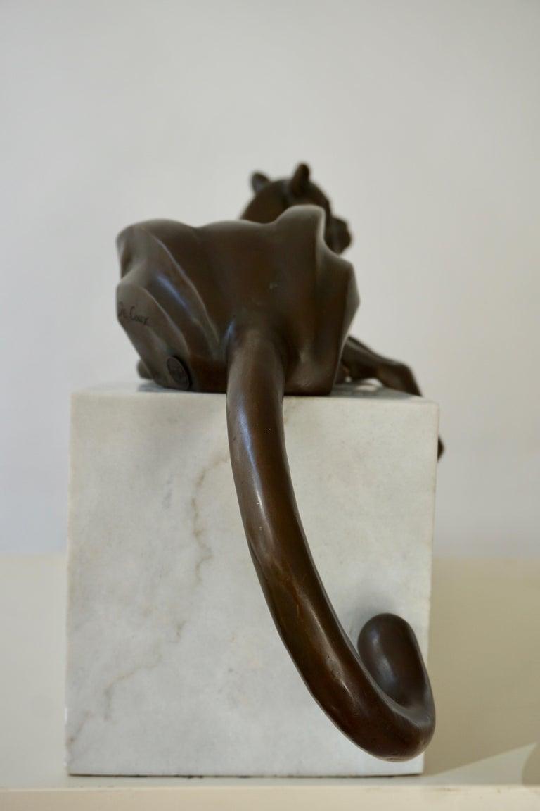 Art Deco Bronze Dog Sculpture by Decoux, 1930, France For Sale 9
