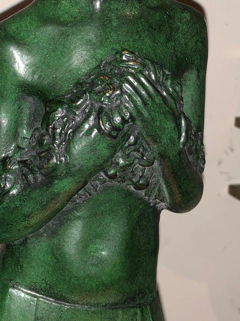Art Deco Bronze Figure Antoine Vriens Classic 1928 1 of 6 Total Art Deco In Excellent Condition For Sale In Oakland, CA