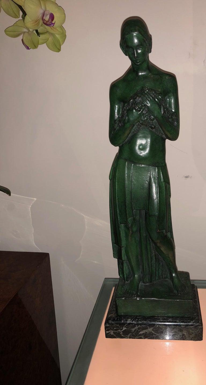 Art Deco Bronze Figure Antoine Vriens Classic 1928 1 of 6 Total Art Deco For Sale 1
