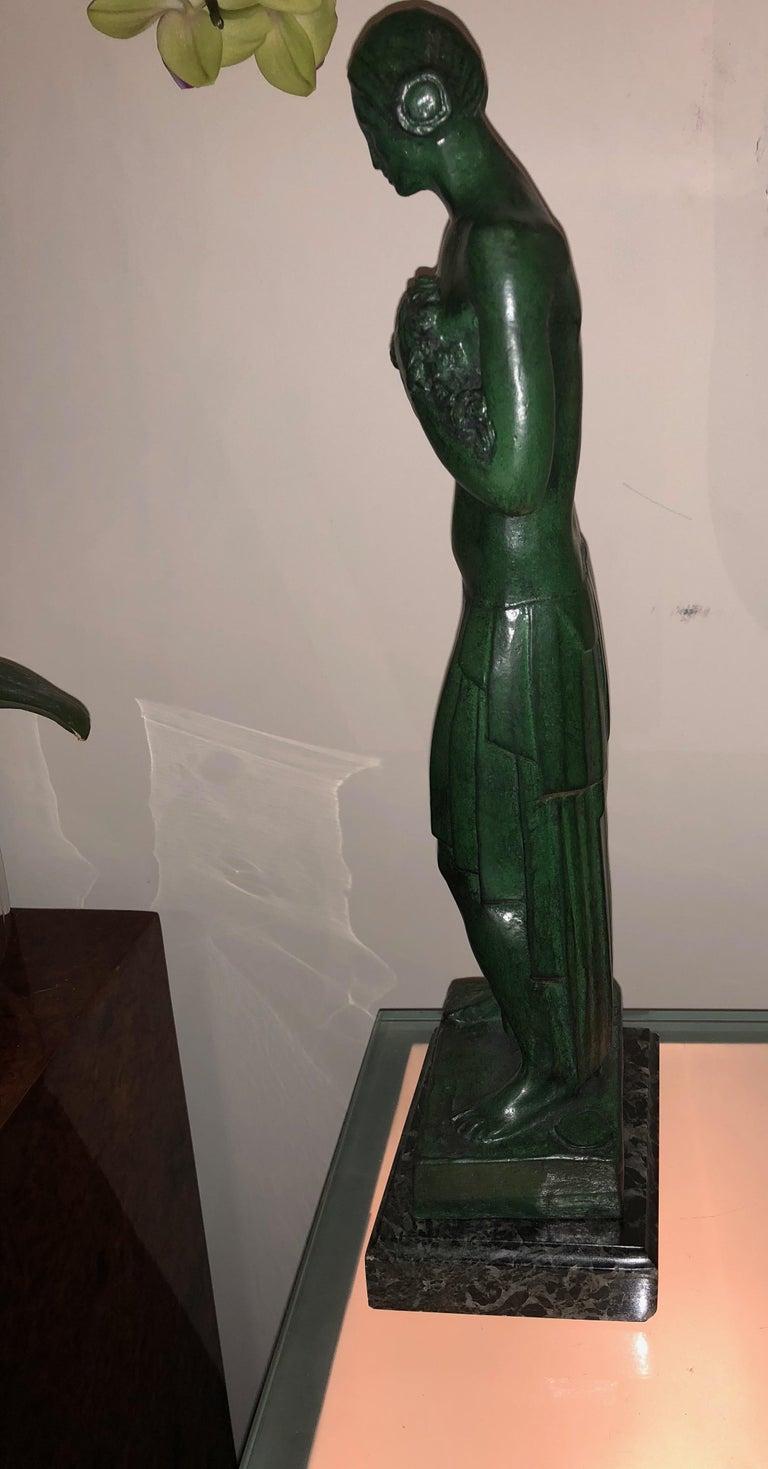 Art Deco Bronze Figure Antoine Vriens Classic 1928 1 of 6 Total Art Deco For Sale 2