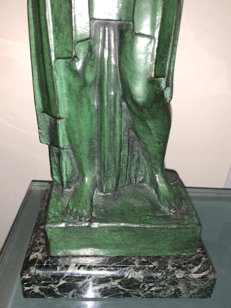 Art Deco Bronze Figure Antoine Vriens Classic 1928 1 of 6 Total Art Deco For Sale 4