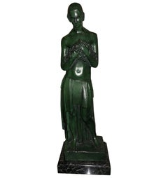 Art Deco Bronze Figure Antoine Vriens Classic 1928 1 of 6 Total Art Deco
