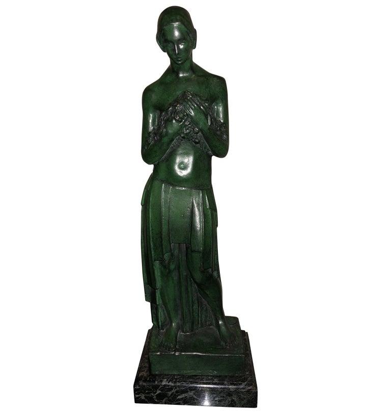 Art Deco Bronze Figure Antoine Vriens Classic 1928 1 of 6 Total Art Deco For Sale