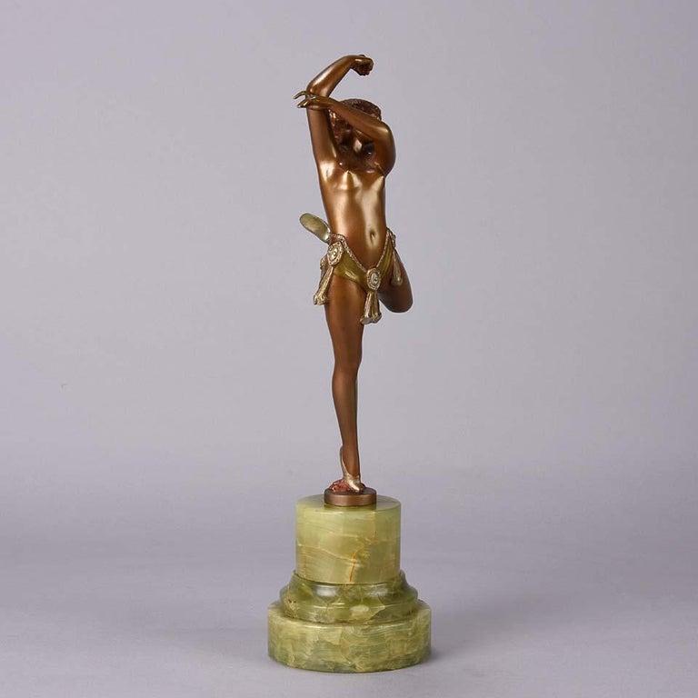 German Art Deco Bronze Figure Entitled 'Erotic Dancer' by Bruno Zach