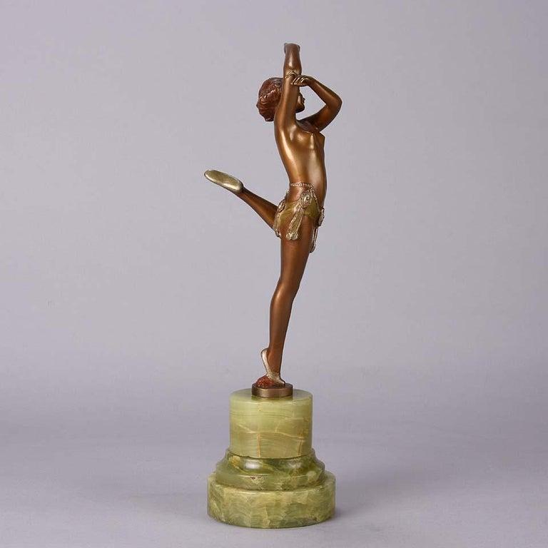 Cast Art Deco Bronze Figure Entitled 'Erotic Dancer' by Bruno Zach