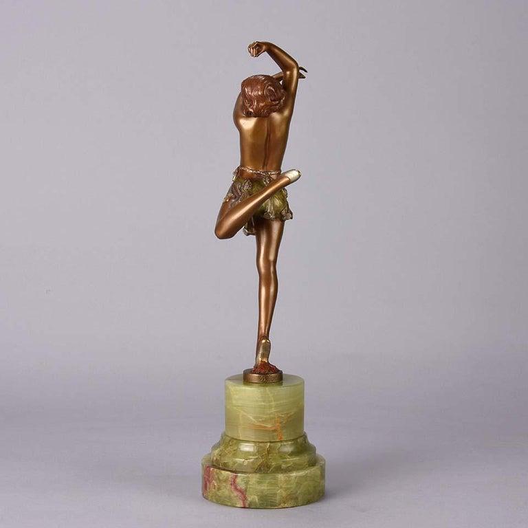 Art Deco Bronze Figure Entitled 'Erotic Dancer' by Bruno Zach 1