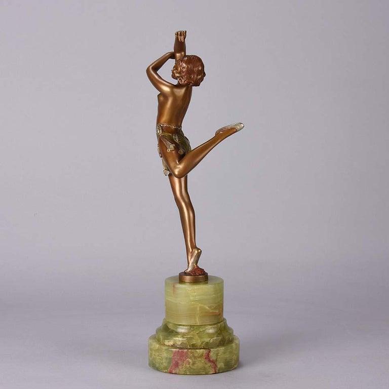 Art Deco Bronze Figure Entitled 'Erotic Dancer' by Bruno Zach 2
