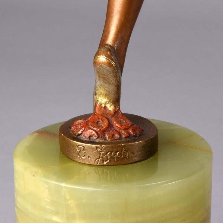 Art Deco Bronze Figure Entitled 'Erotic Dancer' by Bruno Zach 3