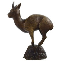 Art Deco Bronze Figure in the Form of Young Deer, 1930s-1940s