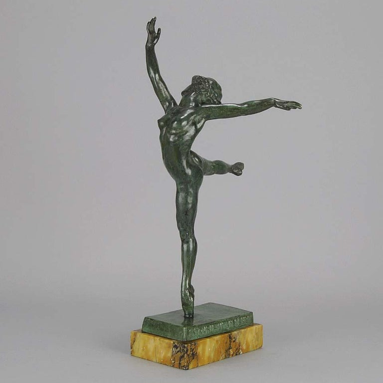 Cast Art Deco Bronze Figure