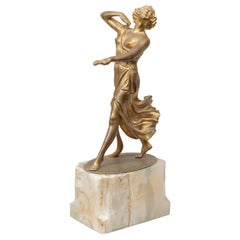 Art Deco Bronze Figure of Dancer Signed A. Ermler, circa 1920s
